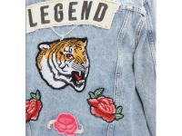 Veste en Jean fashion à stickers  - 3