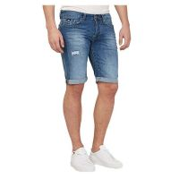 Short denim fashion ourlet retroussé