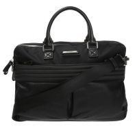 Diesel - Sac bandoulière noir porte-documents & laptop homme