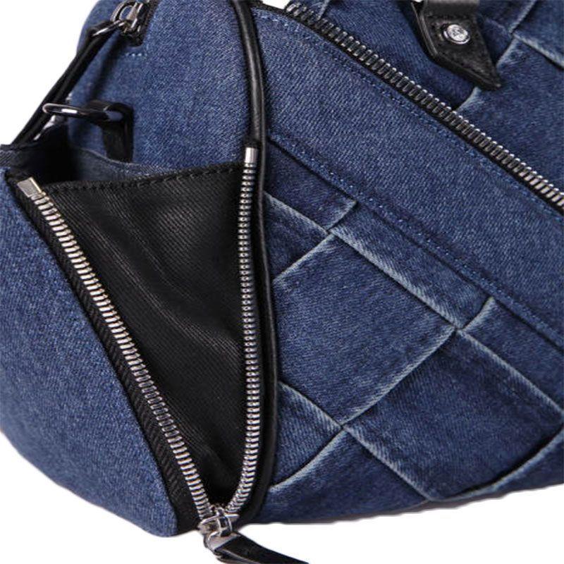dd0775ca18 Diesel sac à bandoulière en denim tissé à la main et cuir femme - 4 ...