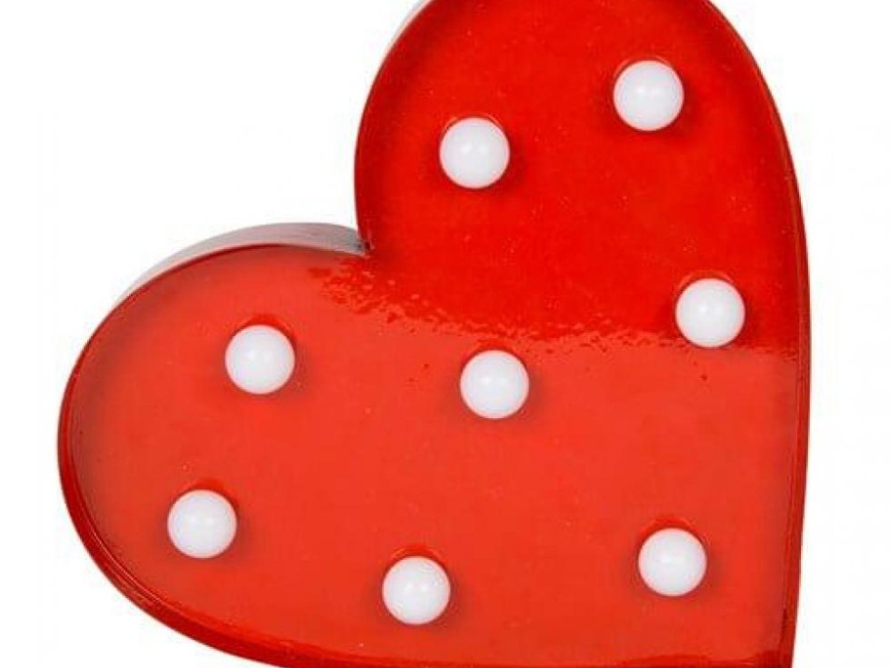 lampe Led coeur-rouge