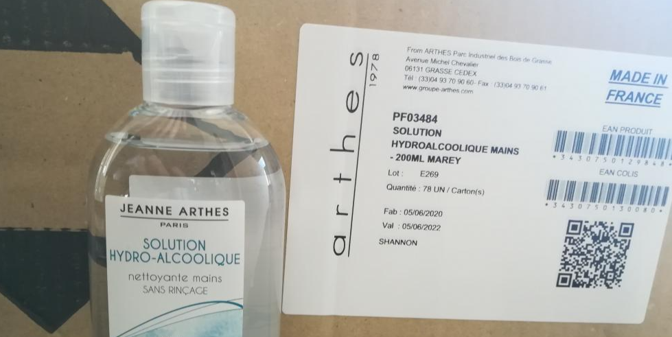 Solution hydroalcoolique / 200 ml / Ethanol 80,6%