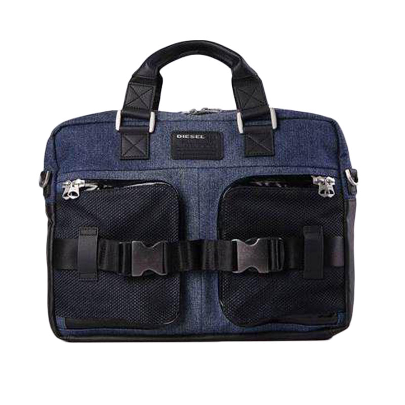 Diesel - Sac à main porte-documents et ordinateur denim homme - 0