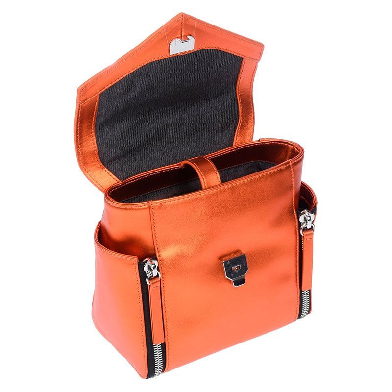 Diesel sac à main bandoulière amovible orange brillant femme - 1